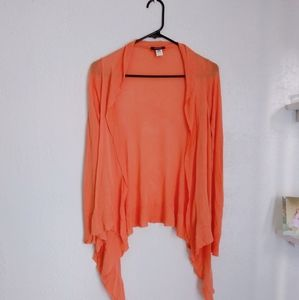 WOMENS SMALL KERISMA PEACH ORANGE CARDIGAN